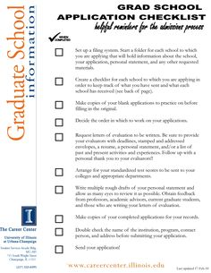 Applying to graduate school? Use this application checklist to make sure you're doing all of the right things! Remember to use this as a basis, as application deadlines and supplements differ from school to school. College Life Hacks, College Dorms, College Students, Professional School, Young Professional, Graduate School, Law School, Proposal Paper, University Organization