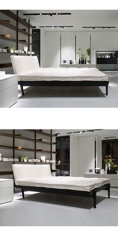 Piero Lissoni Lakki Bed   The New Lakki Bed By Piero Lissoni Recalls The  Style Of The Great Italian Design Masters Of The Fifties And Sixties.