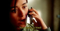 Ziva: Your goose is fried! Tony: COOKED Ziva cooked...:D