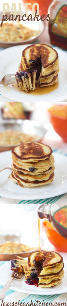 These paleo pancakes made with almond flour are the real deal. They are a paleo pancake recipe you can trust that is fluffy, kid-friendly, and freezer friendly! Paleo Recipes, Low Carb Recipes, Real Food Recipes, Cooking Recipes, Paleo Pancakes, Pancakes And Waffles, Protein Pancakes, Almond Pancakes, Bon Appetit
