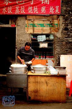 Street scene inside Beijing Hutong