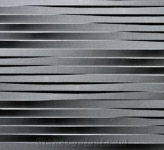 3d Cnc Basalt Stone Wall Wave Panels Board, Black Basalt Wall from China - StoneContact.com