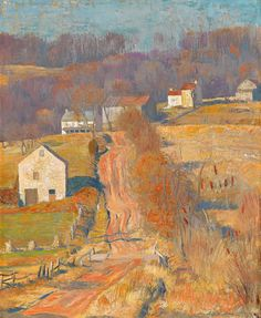 ''Up Jericho,'' Daniel Garber, oil on canvas, 22 x private collection. Impressionist Landscape, Landscape Art, Landscape Paintings, Landscapes, Hope Art, American Impressionism, Plein Air, American Artists, Les Oeuvres