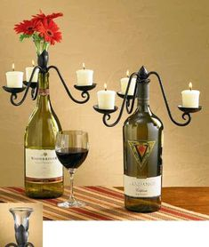 The Country Porch features the Flower Vase & Candelabra Wine Bottle Topper from Park Designs.