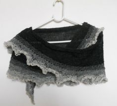 $40 Shoulder shawl handmade from einband lace weight yarn by Klettur