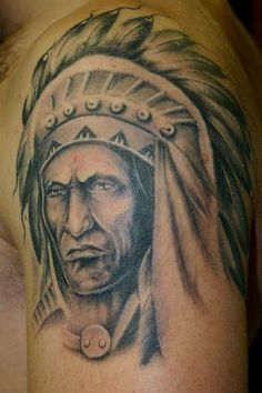 American Red Indian tattoo design