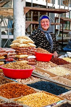 Market Smiles . Tajikistan.....I want to visit places like this.
