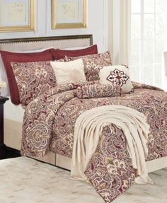 Amber Palace 10-Piece Queen Comforter Set | macys.com