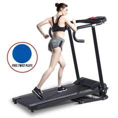 Folding 500W Electric Motorized Treadmill Portable Running Gym Fitness Machine…
