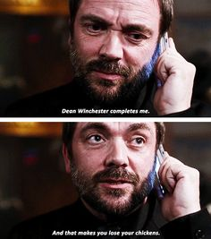 [gifset] Black - The lines they give Mark Sheppard to say, just kills me. Crowley Supernatural, Supernatural Seasons, Castiel, Watson Sherlock, Sherlock Holmes Benedict Cumberbatch, Mark Sheppard, Epic Story, John Martin