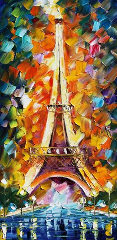 The Eiffel Tower by Leonid Afremov