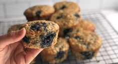 Whole Grain Blueberry Zucchini Muffins