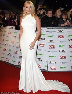 Holly Willoughby wears designer suzanne neville to the National television awards 6