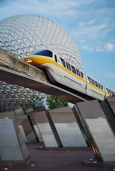 The monorail and Spaceship Earth
