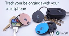 Attach TrackR to keys, wallets and more. When an item goes missing, just tap the TrackR app to make your Bluetooth tracker ring loudly. Gadgets And Gizmos, Tech Gadgets, Cool Gadgets, The Maxx, Take My Money, Things To Buy, Stuff To Buy, Cool Tech, My Guy
