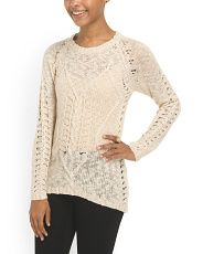 image of Juniors Heart Knit Sweater