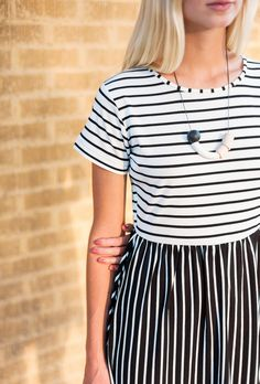 Say yes to stripes on stripes.