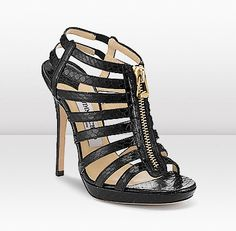 7b64778fbd26 Jimmy Choo GLENYS Embace safari chic in these exotic Elaphe snake skin zip  gladiator style sandals with unique glossy finish.