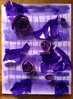 Purple art project- and smoothie recipe!