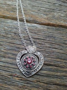 Heart Shaped Removable Snap Jewelry Necklace