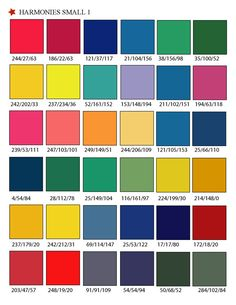 Printable RGB Color Palette Swatches Matching System For Printing Accurate Colors