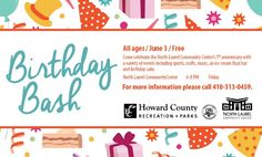 North Laurel Community Center Birthday Bash Event    Howard County Recreation and Parks
