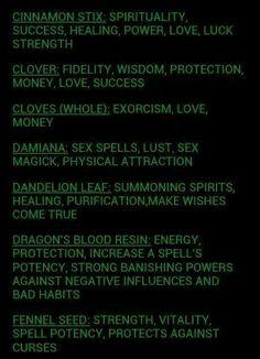 Plants for spells