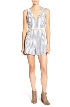 Lush Stripe Illusion Waist Romper available at #Nordstrom