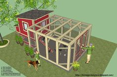 home garden plans: L100 - Chicken Coop Plans Construction - How to build a Chicken Coop  PLANS