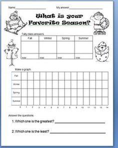 FREE Printable Graphing and Seasons Worksheet