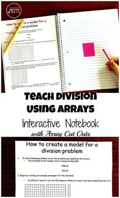 This FREE interactive notebook will help your children learn to divide using arrays. It is a great introduction to long division!