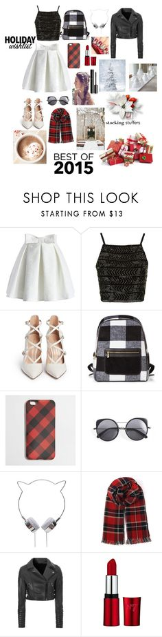 """11 days till Christmas"" by pinappledancer1186 ❤ liked on Polyvore featuring Chicwish, Topshop, Gianvito Rossi, J.Crew, Wood Wood, Glamorous and Chanel"