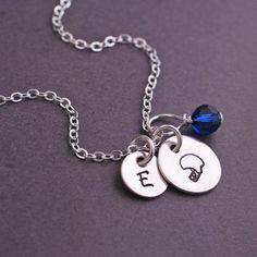 Football Fan Necklace - Silver