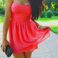 Coral Bodice Dress CUTEEE!