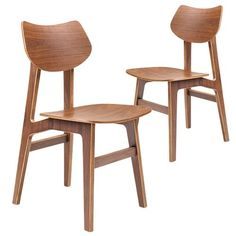 Temple & Webster Shantay Scandi Walnut Dining Chairs