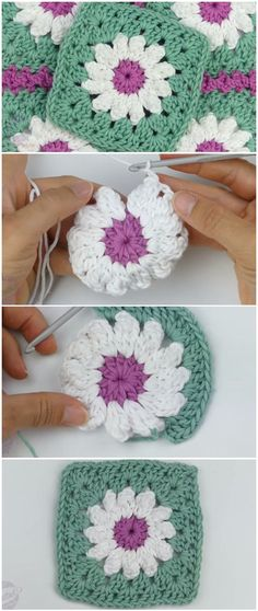 Crochet Easy Granny Square Blanket Learn to crochet easy granny square. Crochet Easy Granny Square Blanket Learn to crochet easy granny square. With these joined granny sq Granny Square Crochet Pattern, Crochet Squares, Crochet Granny, Crochet Motif, Crochet Designs, Easy Crochet, Free Crochet, Blanket Crochet, Crochet Flowers