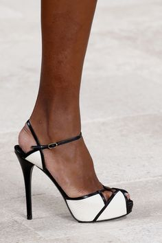 White and black straps