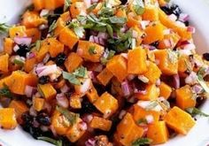 One easy different salsa shared by my teacher Chef David. A great fall salsa thats great to serve with toasted pitas, or on top of fish or turkey. Enjoy!Can be made with currant's, I prefer tomatoes. Dried cranberry great also for Thanksgiving!!!