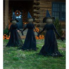 Nothing says Halloween like a trio of spooky witches ominously loitering in the . - Nothing says Halloween like a trio of spooky witches ominously loitering in the … – - Humour Halloween, Fröhliches Halloween, Adornos Halloween, Scary Halloween Decorations, Halloween Disfraces, Holidays Halloween, Halloween Yard Displays, Halloween Outside, Halloween Yard Ideas