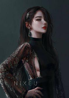 Fantasy Art Women, Beautiful Fantasy Art, Dark Fantasy Art, Fantasy Girl, Fantasy Artwork, Cool Anime Girl, Beautiful Anime Girl, Anime Art Girl, Anime Girls