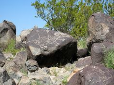 Petrogylphs at Three Rivers, New Mexico by sunsinger, via Flickr