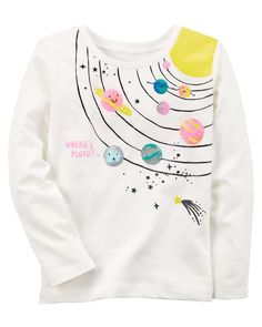 Baby Girl Solar System Jersey Tee   Carters.com