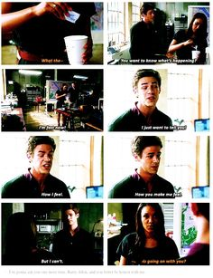 """""""I'm fast now!"""" - Barry and Iris #TheFlash"""