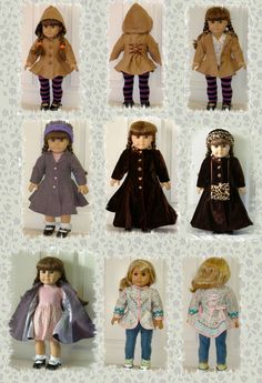 "Carla Coat PDF pattern for 18"" Doll. $5.00, via Etsy."