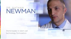Dr Nathan Newman, the creator of the Luminesce range of anti-aging  products derived from Adult Stem Cell technology.