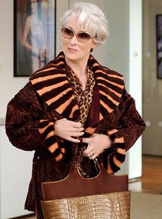 The Devil Wears Prada.....many of the jewelry worn by Ms Streep were vintage pieces selected by Ellen Carry from Carole Tanenbaum's famous collection which included pieces form Harry Winston, Lanvin, Vermillion and others.....