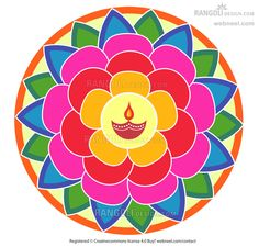 Best & Wonderful Rangoli Designs For Diwali - ~ Happy Diwali 2017 Wishes Messages Quotes Images Wallpapers Best Rangoli Design, Indian Rangoli Designs, Beautiful Rangoli Designs, Kolam Designs, Rangoli Patterns, Rangoli Ideas, Diwali Greetings, Diwali Wishes, Diwali Facts