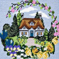 Spring Cottage Tapestry Kit By Twilleys of Stamford