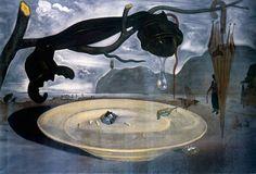 L'énigme d'Hitler, Dali, 1939 Dénoncer ou servir le pouvoir ?Dans cette peinture aux teintes sombres, Dali dénonce la montée du nazisme et du fascisme en Europe.