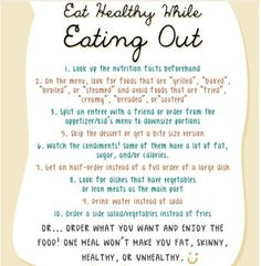 Eat healthy while eating out